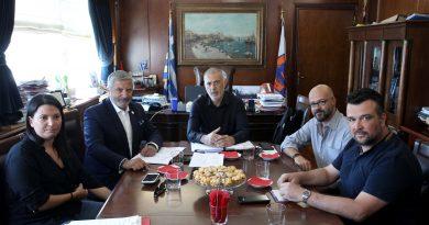 Συνάντηση Μώραλη – Πατούλη – Αντωνάκου για τα μεγάλα έργα στην πόλη μας