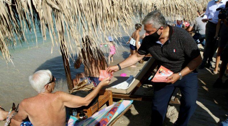 Δράση ενημέρωσης από την Περιφέρεια Αττικής για την εφαρμογή των μέτρων προστασίας των πολιτών στις παραλίες